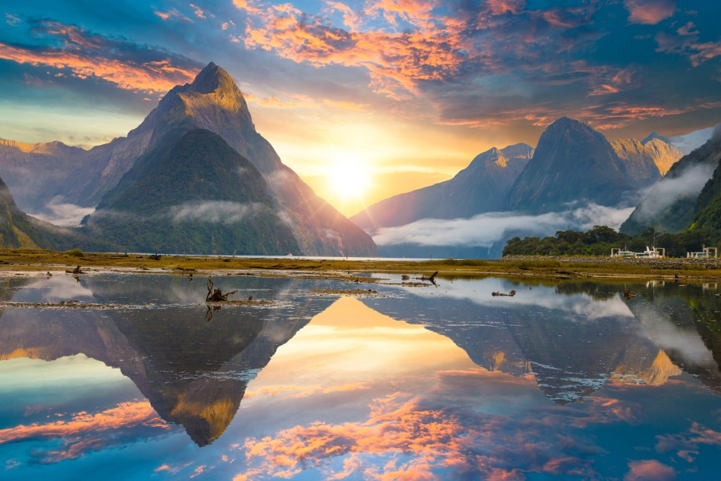 the milford sound fiord fiordland national park new zealand picture id875331434 image