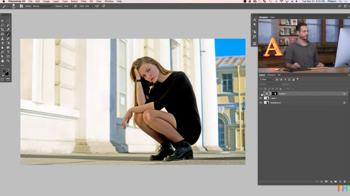 brighten a portrait in photoshop image