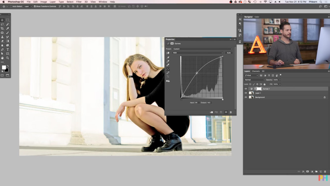 how to brighten a layer in photoshop image