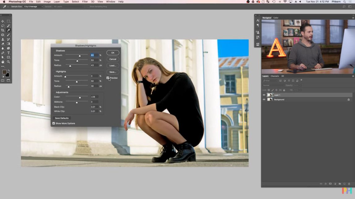 how to brighten in photoshop image