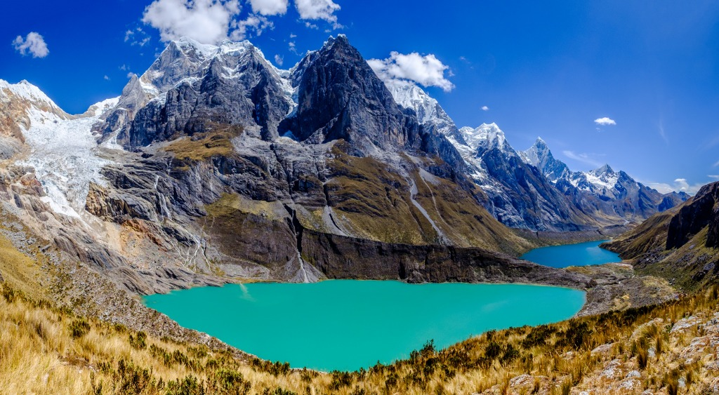 view of lakes and summits in the cordillera huayhuash of peru picture id956407138 image