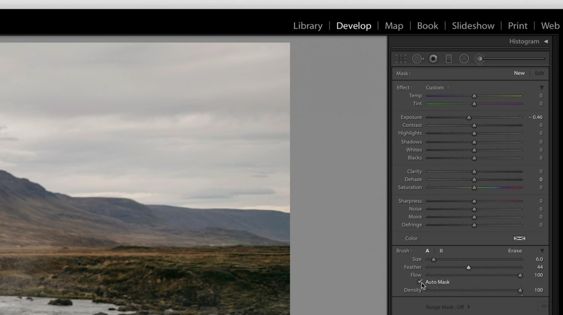 lightroom settings image