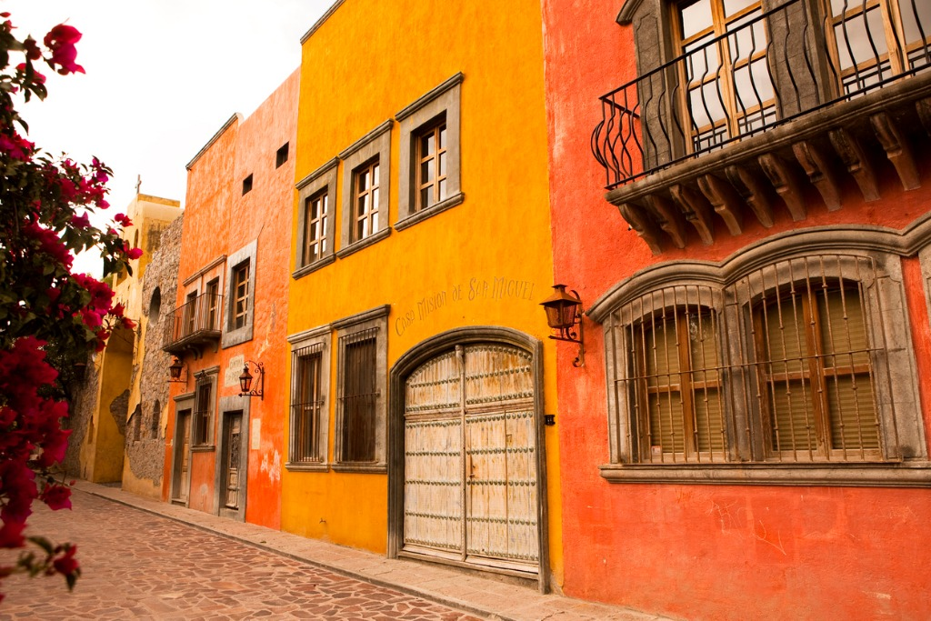 photo of sidebyside buildings in san miguel de allende picture id182176109 image