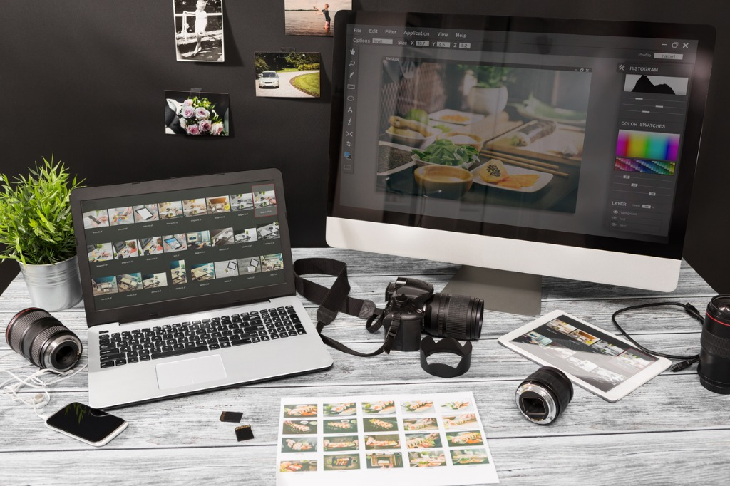 photographers computer with photo edit programs picture id655941620 image