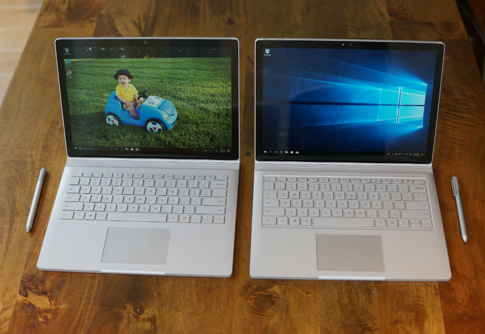surface book vs surface book 2 screen image