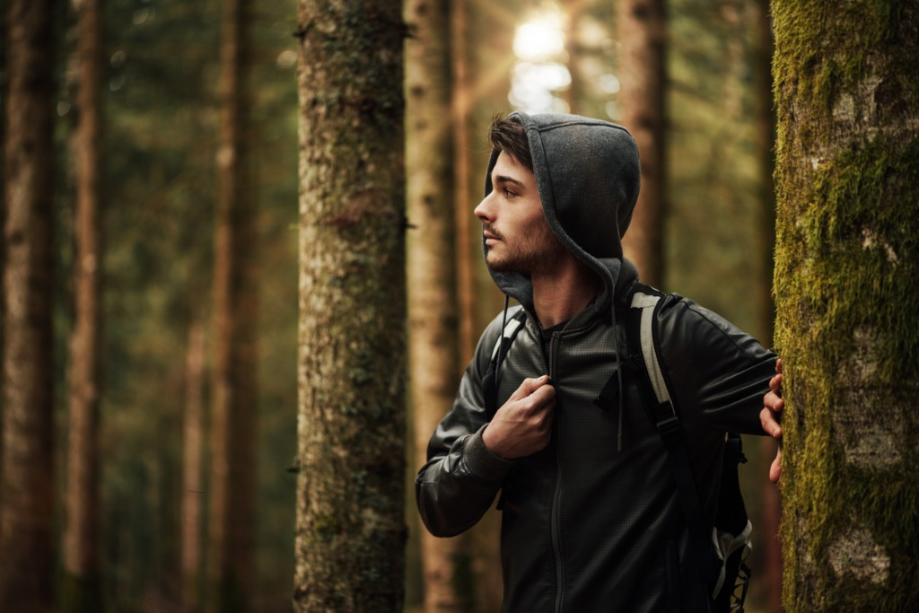young man exploring a forest picture id512098708 image