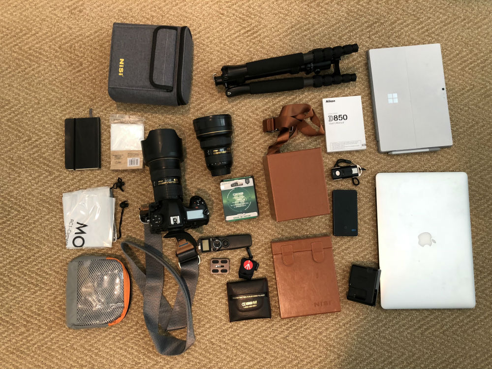 travel photography gear image