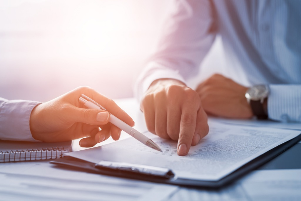business people negotiating a contract picture id840610244