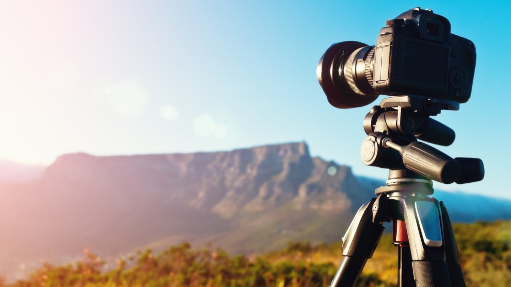 camera shooting timelapse video of table mountain at dawn picture id495661988 image