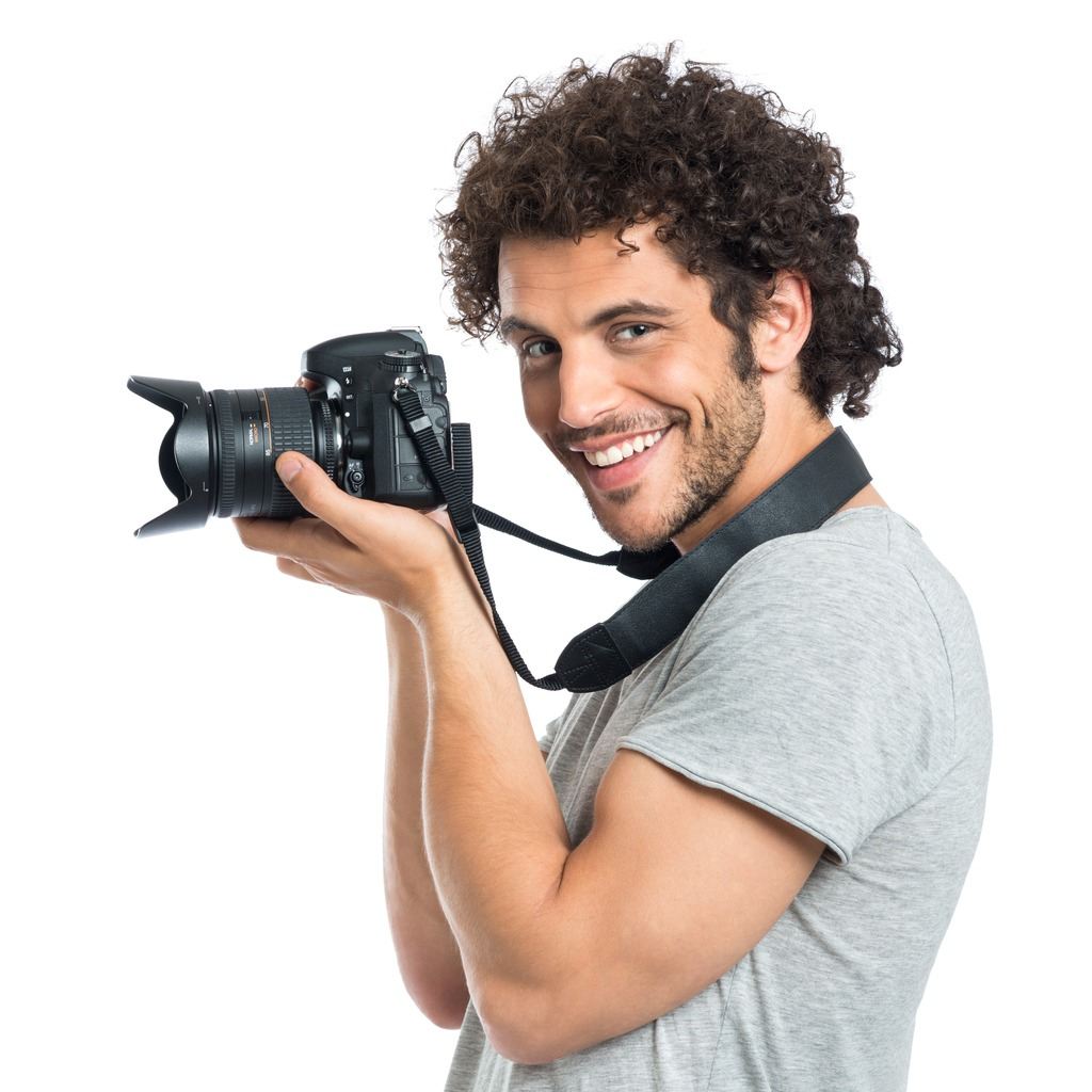 young man holding reflex picture id500234765 image
