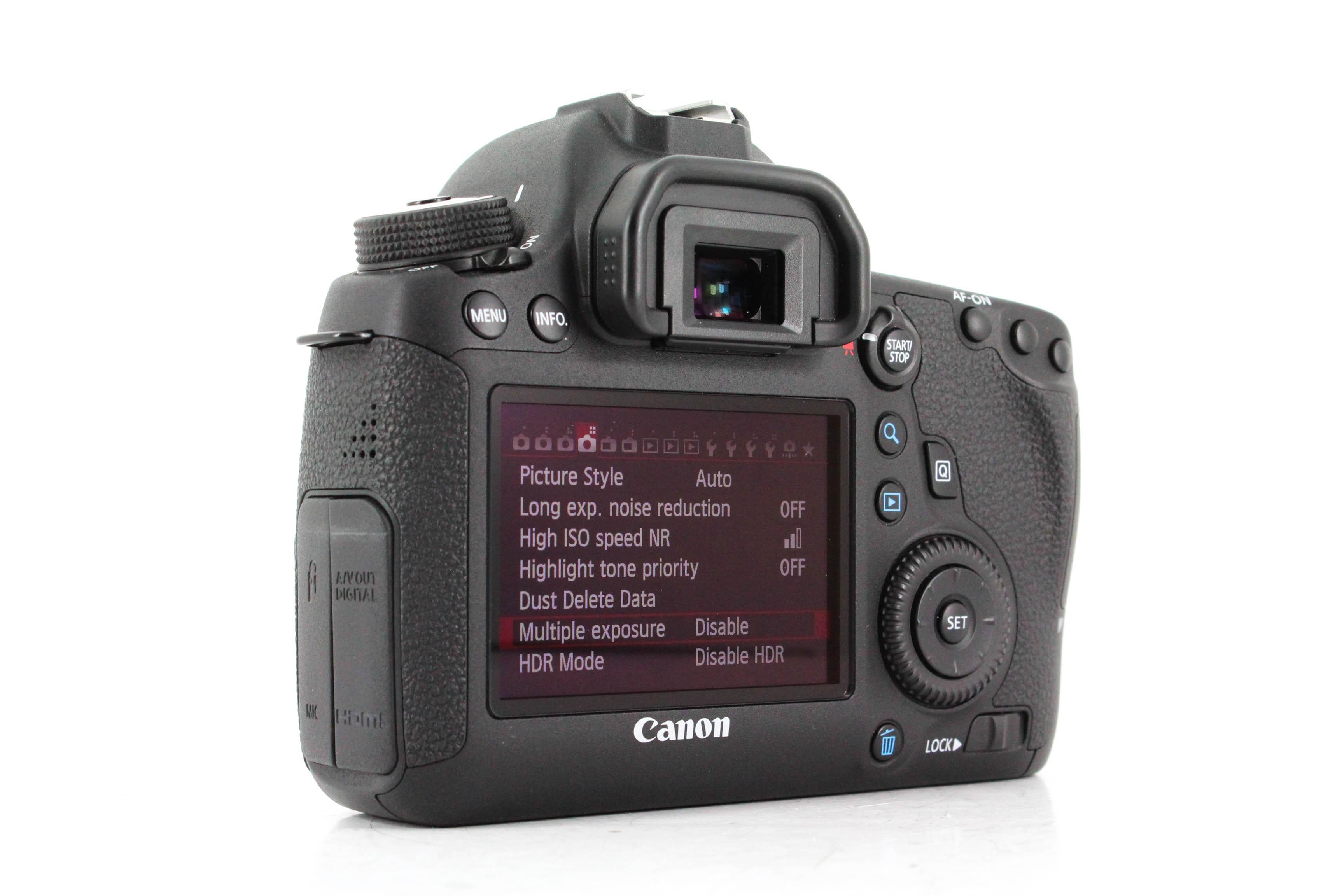 canon eos 6d back image