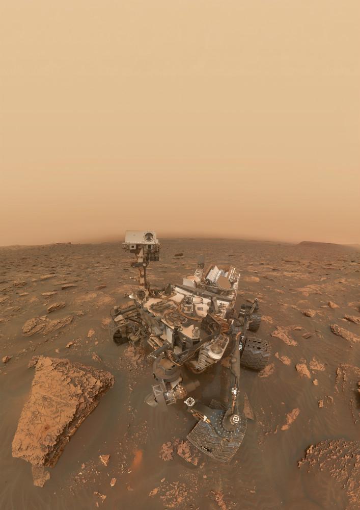 mars curiosity dust storm image