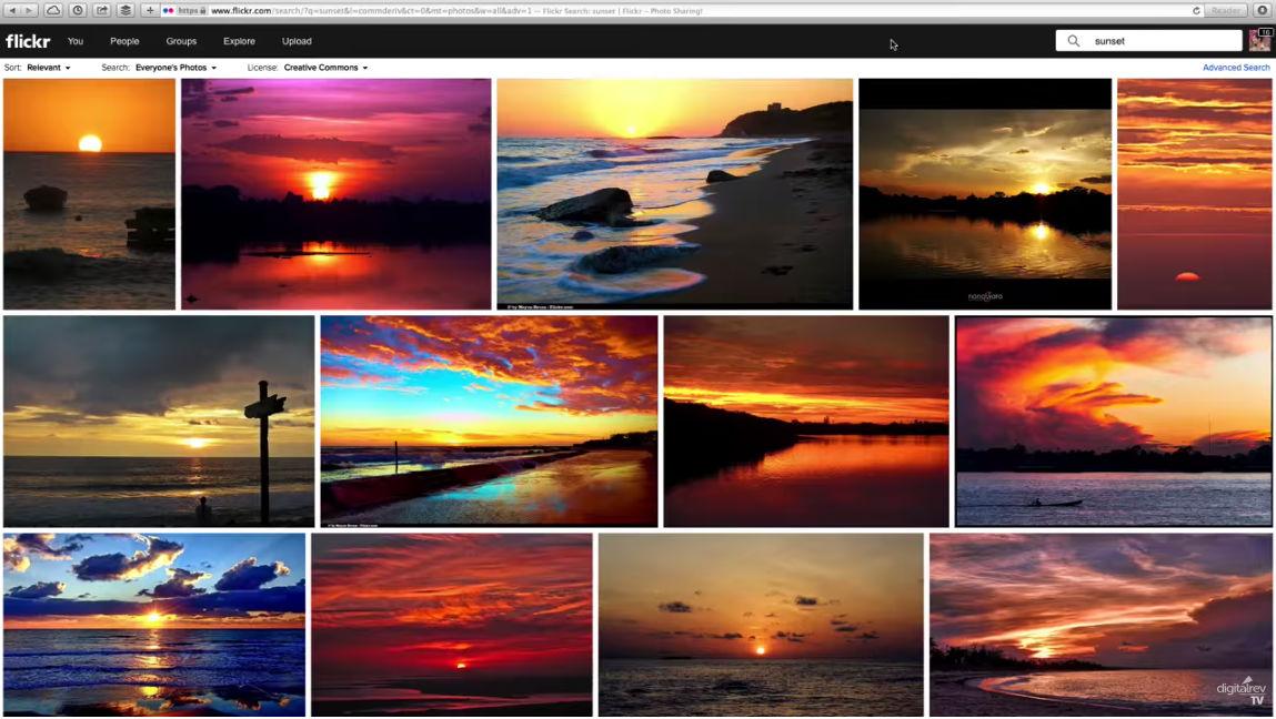 sunset photo cliches image