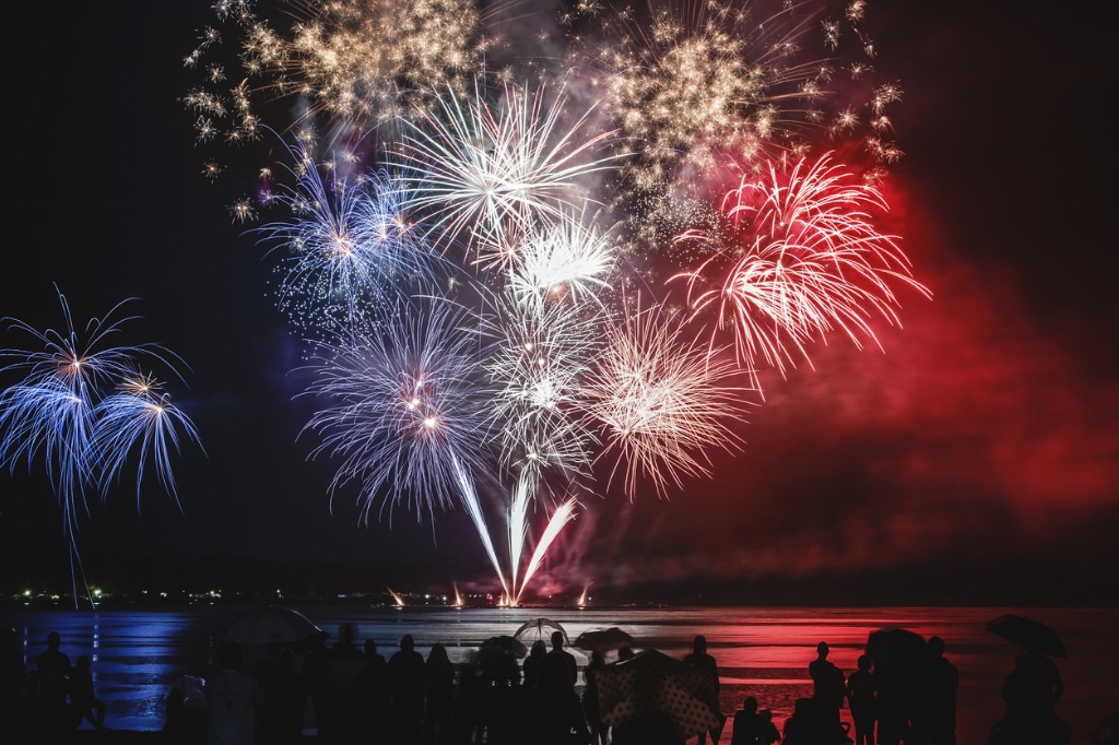camera settings for fireworks image