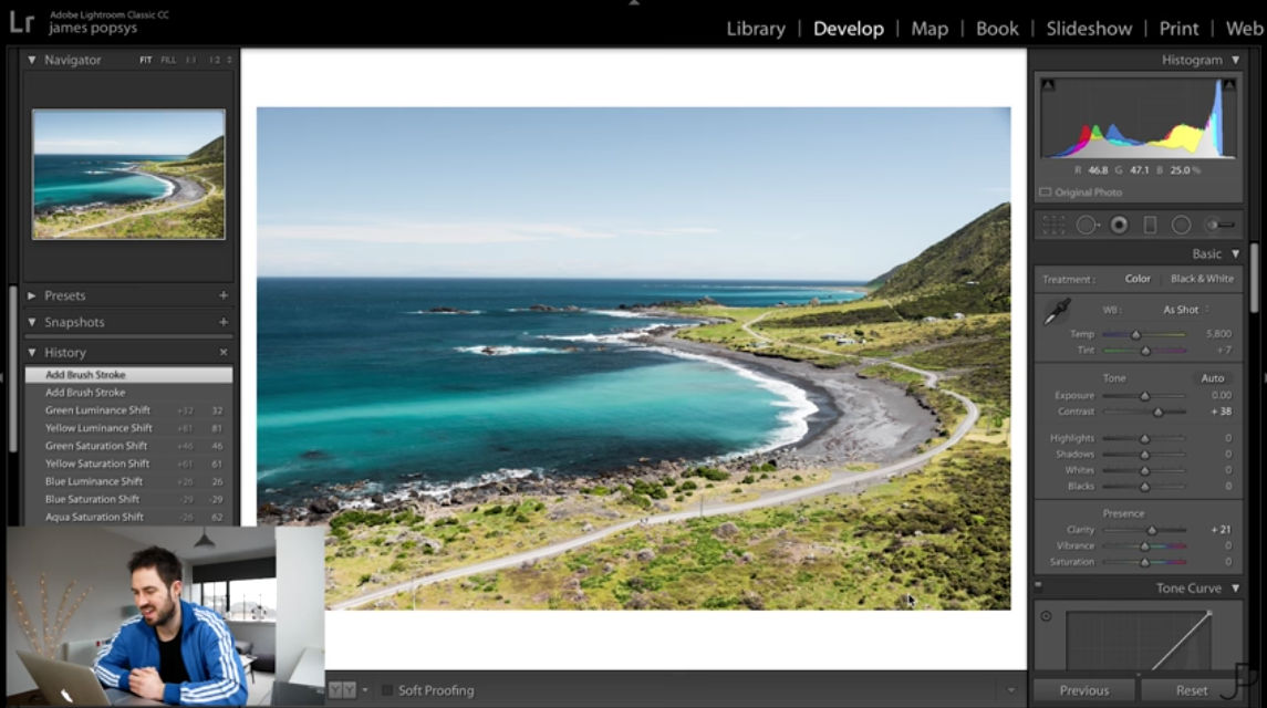 how to edit in lightroom image