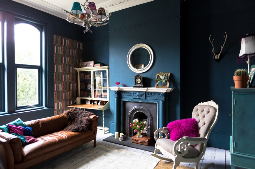 fashionable vintage styled living room picture id667507168