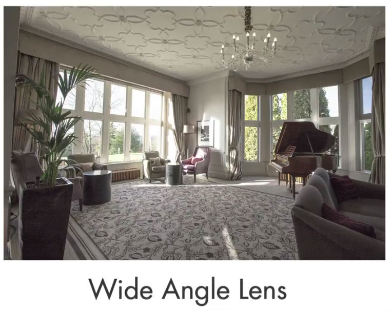 wide angle lens real estate