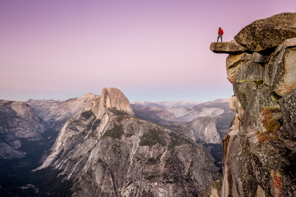 hiker in yosemite national park california usa picture id672978532 image