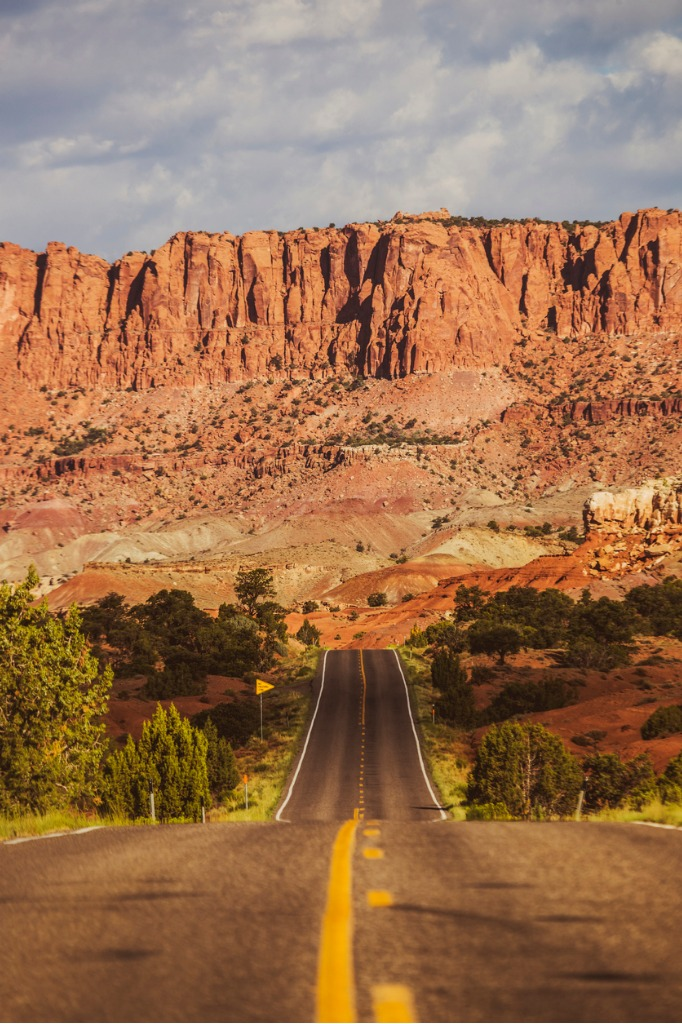 straight road in the capitol reef national park utah picture id923180030 image