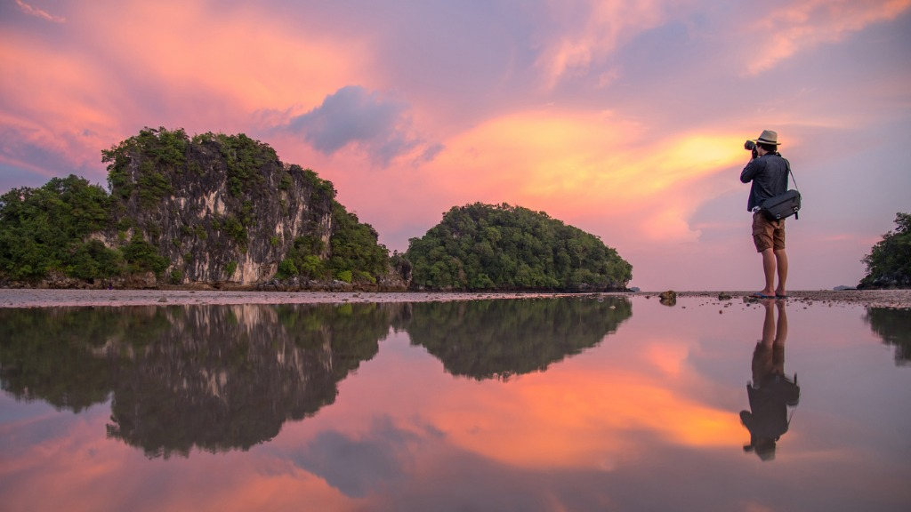 man photographer and summer landscape of krabi thailand picture id683349638 image