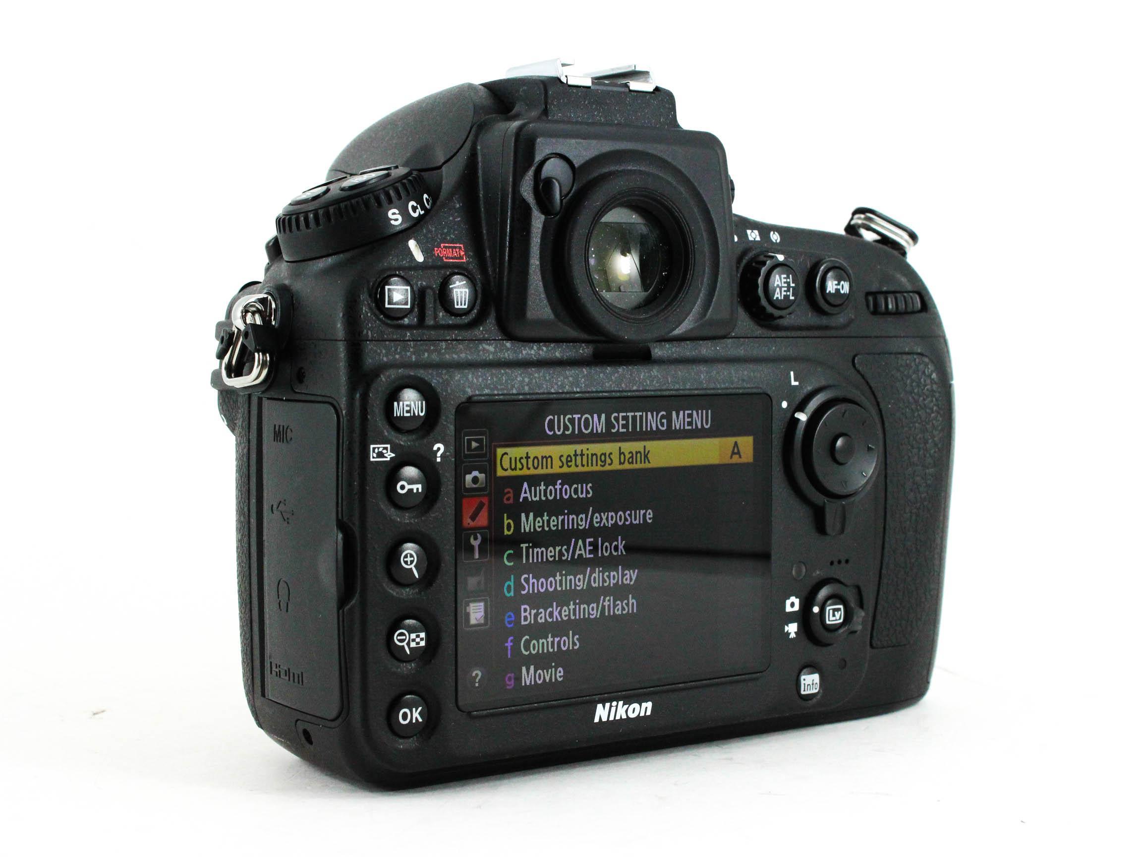 nikon d800 back image