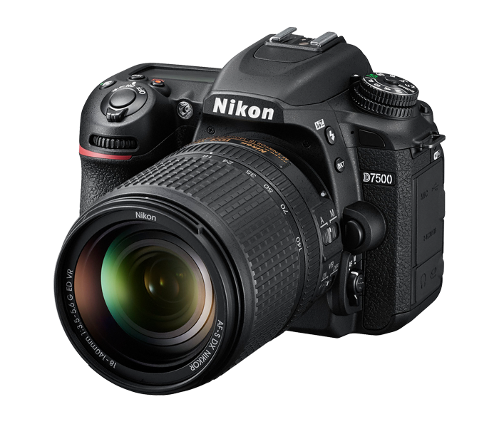nikon d7500 with kit lens image