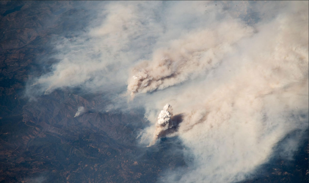 california wildfirees from space image