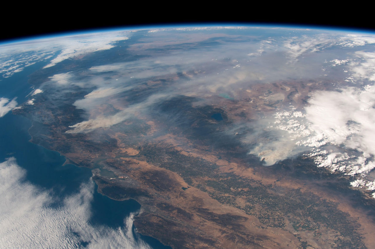 california wildfires from space 2 image