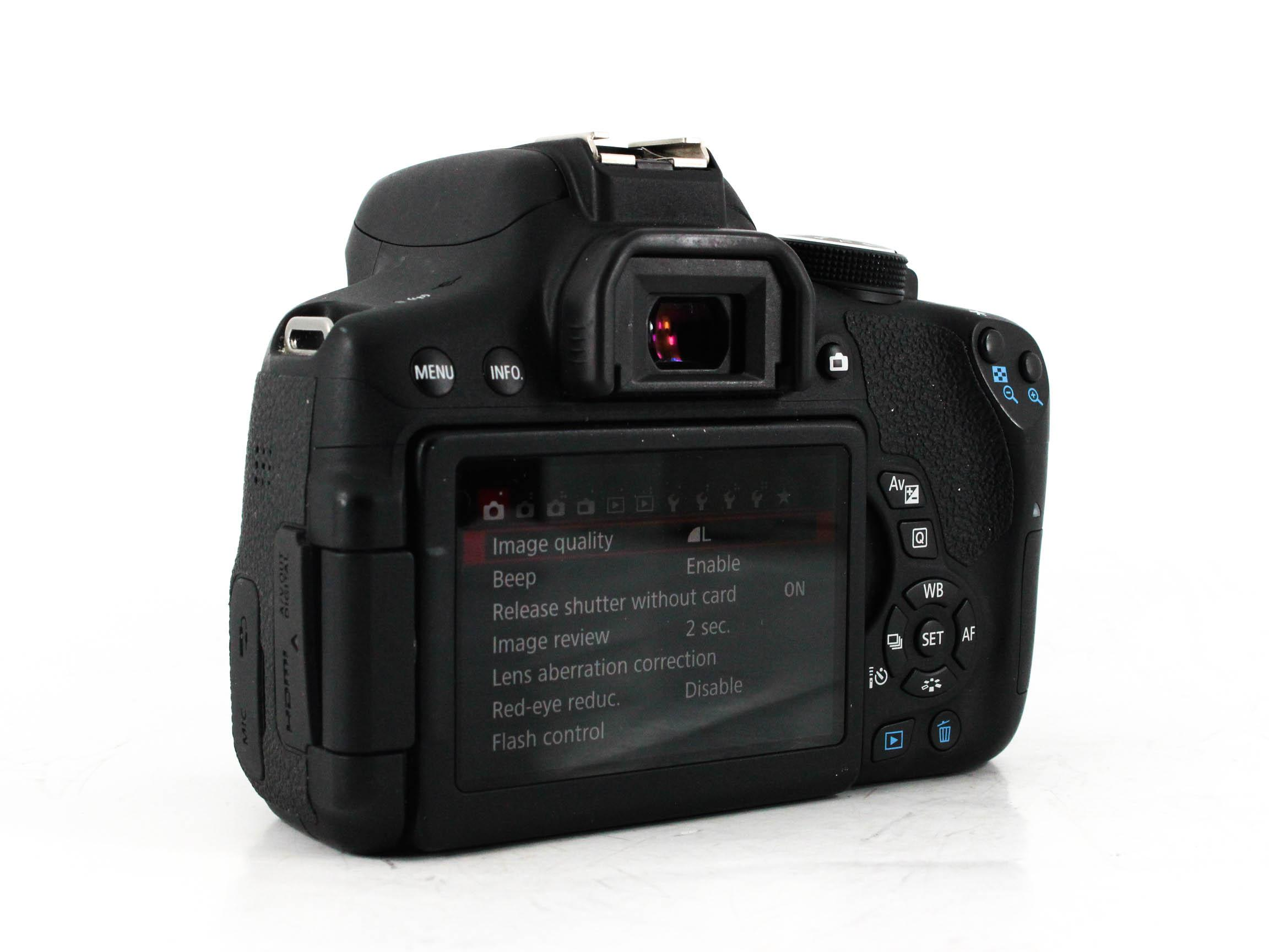canon eos rebel t7i back image