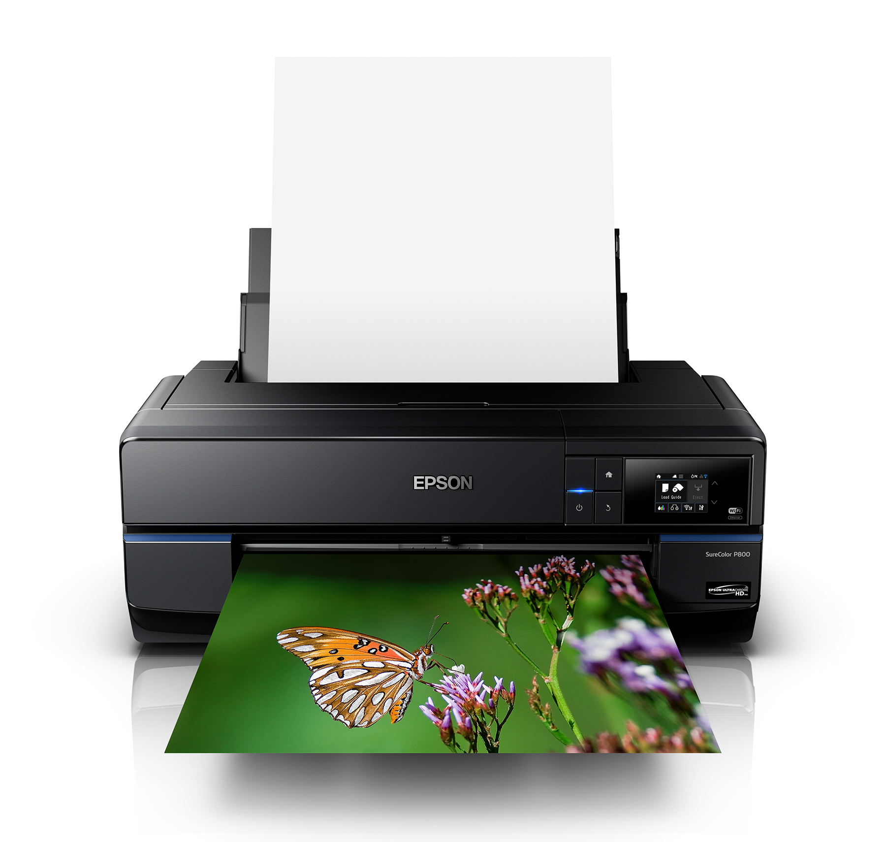 Epson SureColor P800 Front View with Sample image