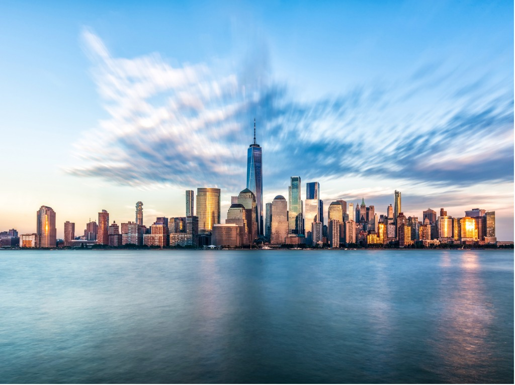 downtown manhattan new york jersey city golden hour sunset picture id910867946 1 image