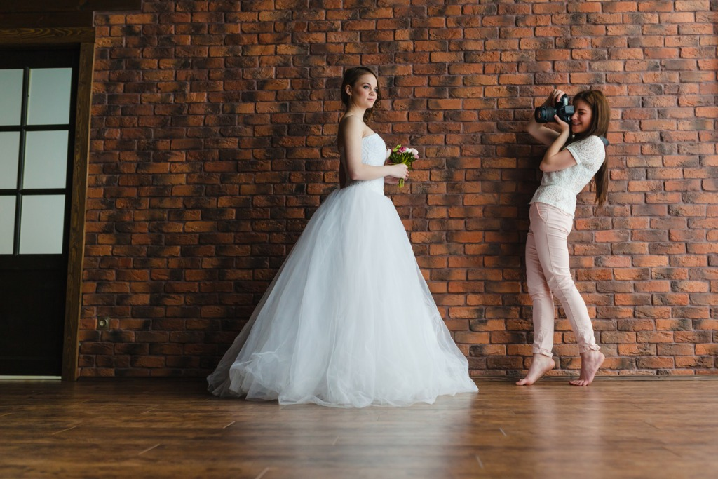 photographer is taking pictures the bride picture id676460684 image