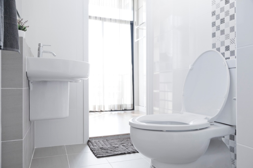 white toilet in home picture id531424804