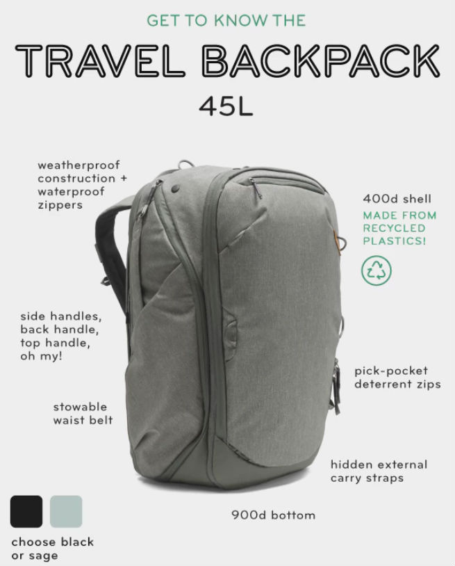peak design travel backpack get to konw image