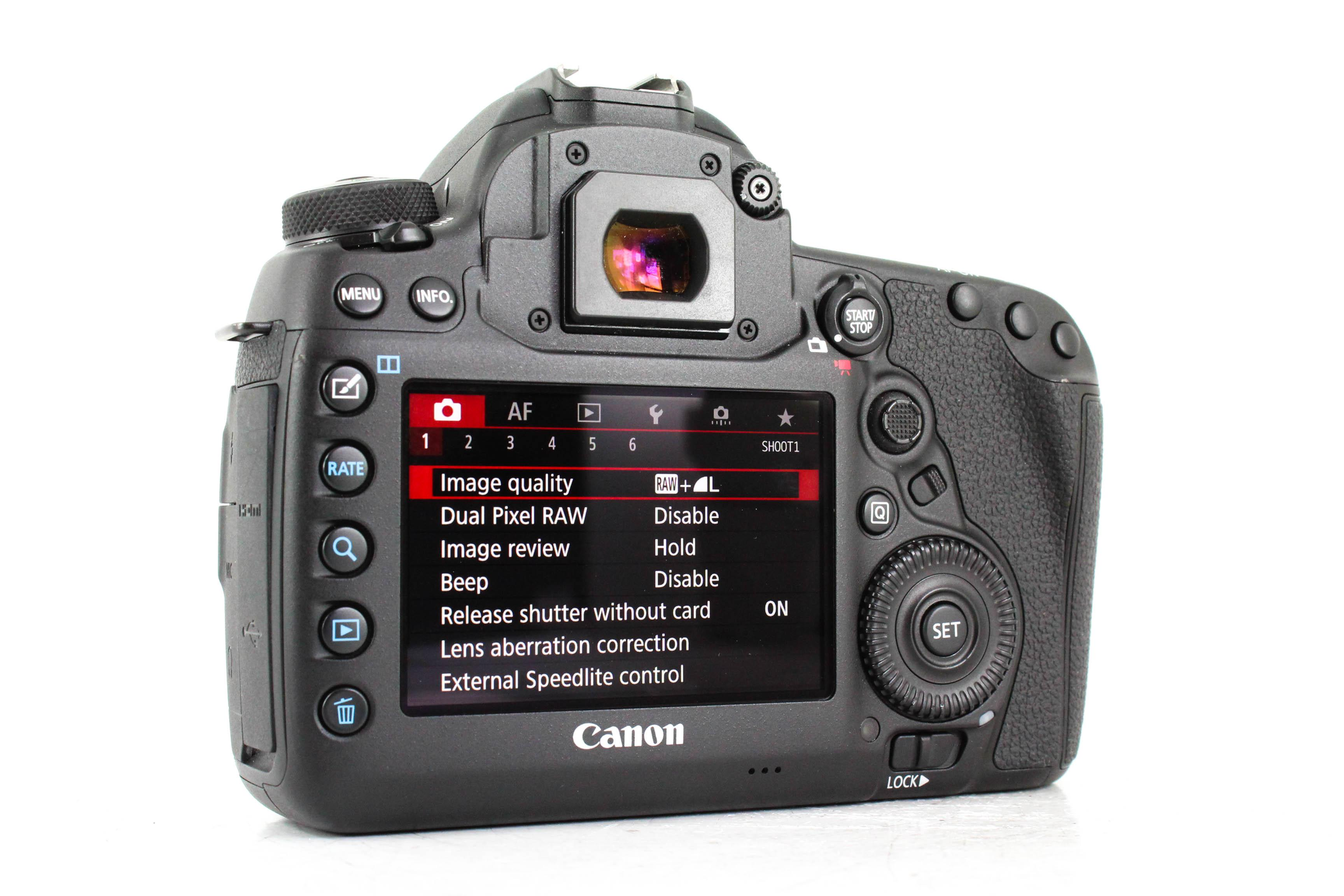 canon 5d iv back image