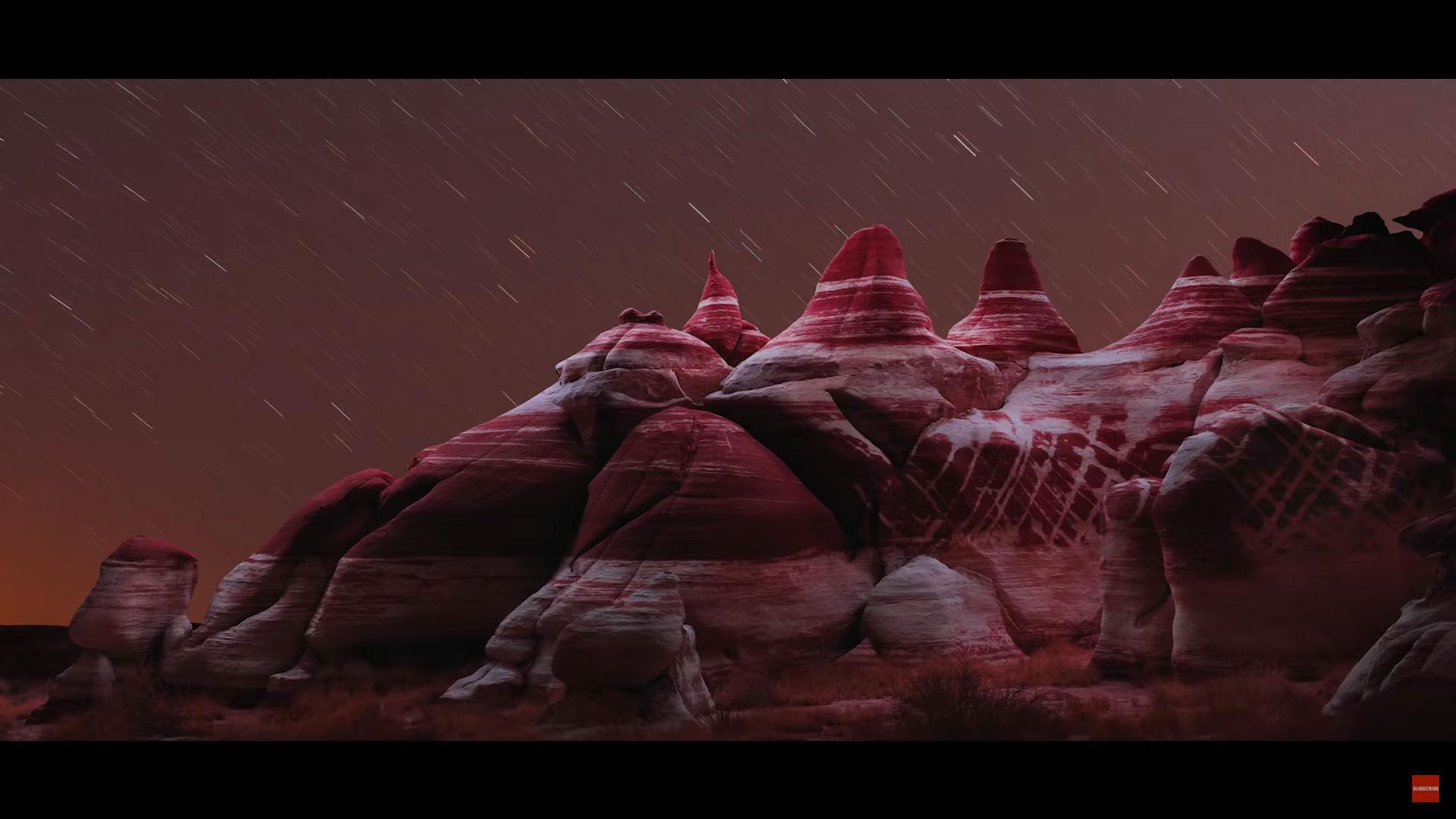 nighttime landscape photography image