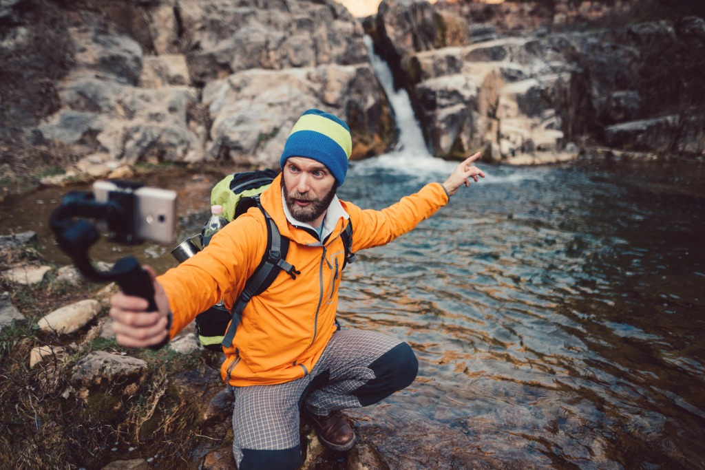 backpacker hiking and vlogging picture id922928796 image