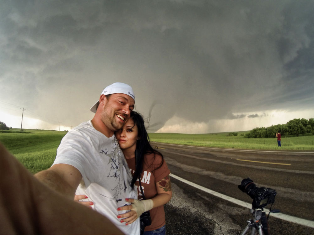 Savannah and Jason Weingart Bennington Ks tornado image