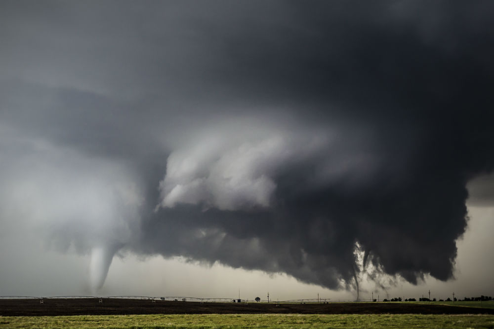 Three tornadoes Dodge City Kansas image