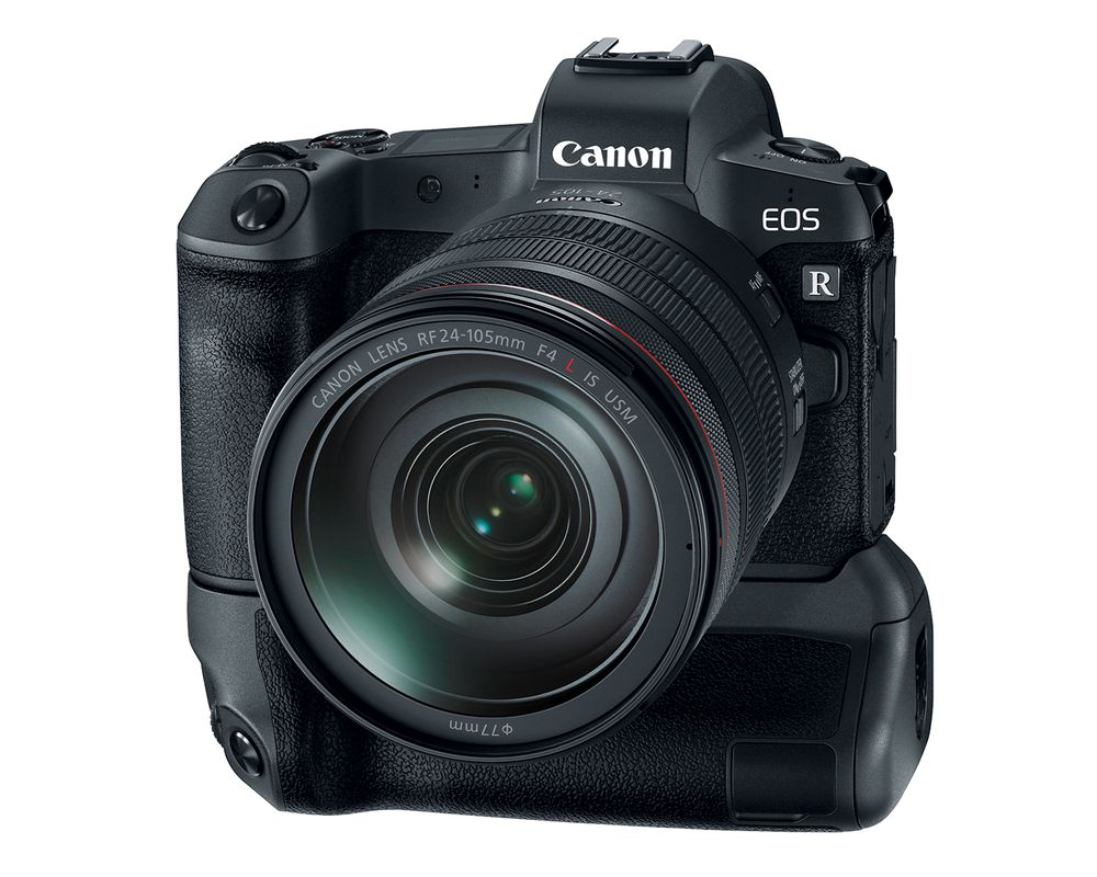 canon eos r with battery grip image