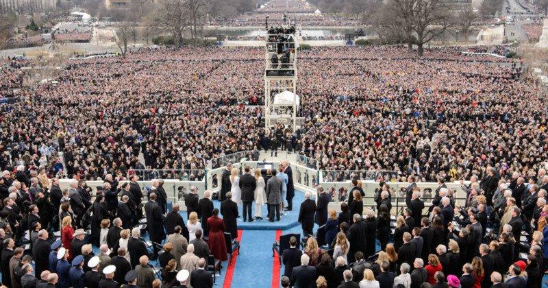 trump inauguration image