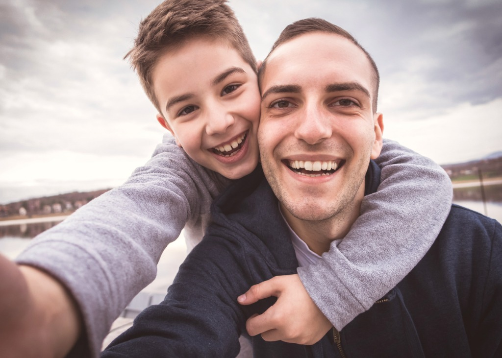 selfie with father picture id514065826 image