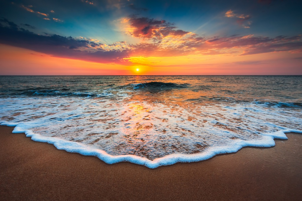 beautiful sunrise over the sea picture id610041376 image