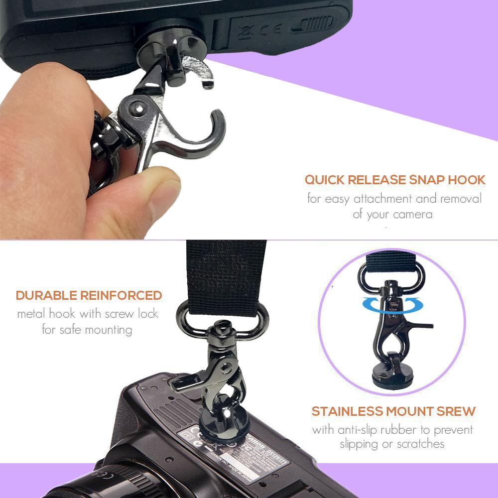 Photographic Equipment Camera Hook Screw Fast Camera Strap Screw Quick Release Hook with 1//4 Screw