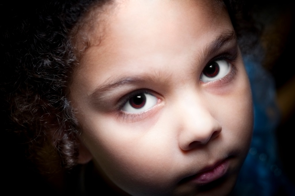 dramatic little girl portrait picture id155383564 image