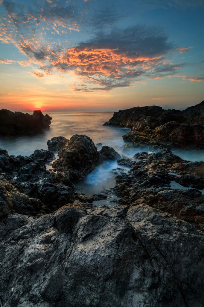 rocky beach in colors picture id669857298 image