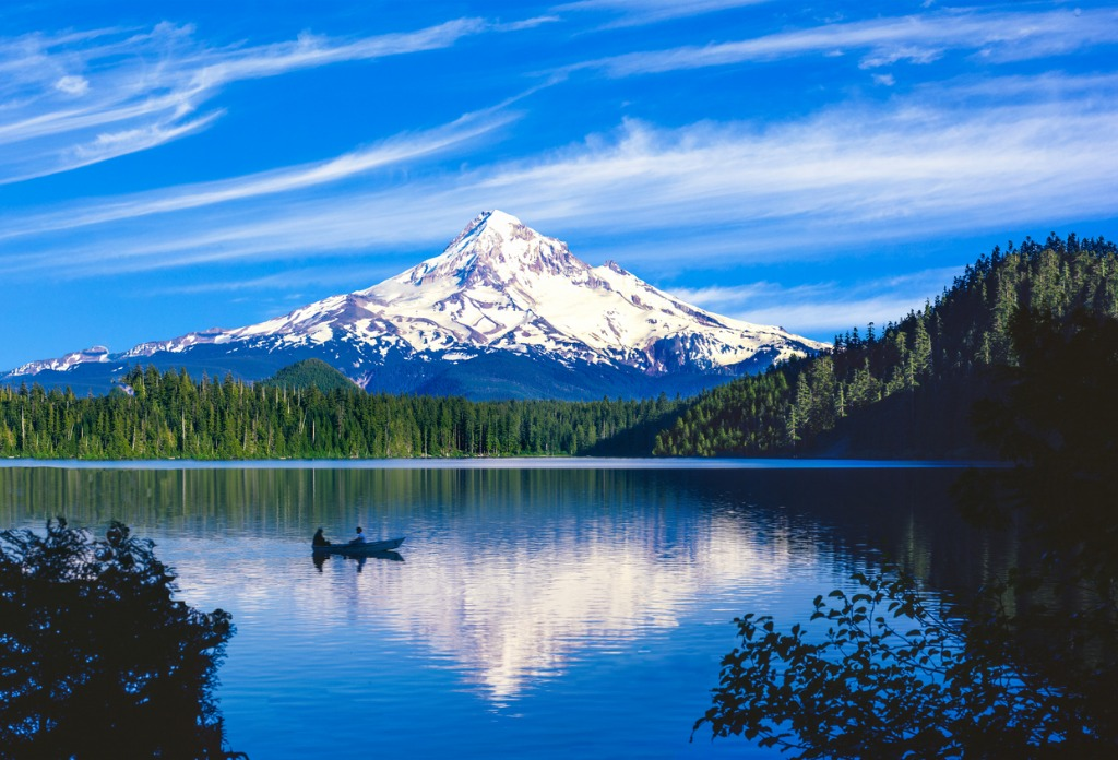 spring morning with the reflection of mt hood or picture id478656572 image