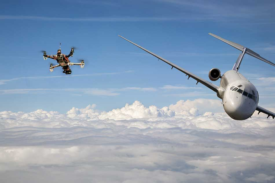drone strike airplane image