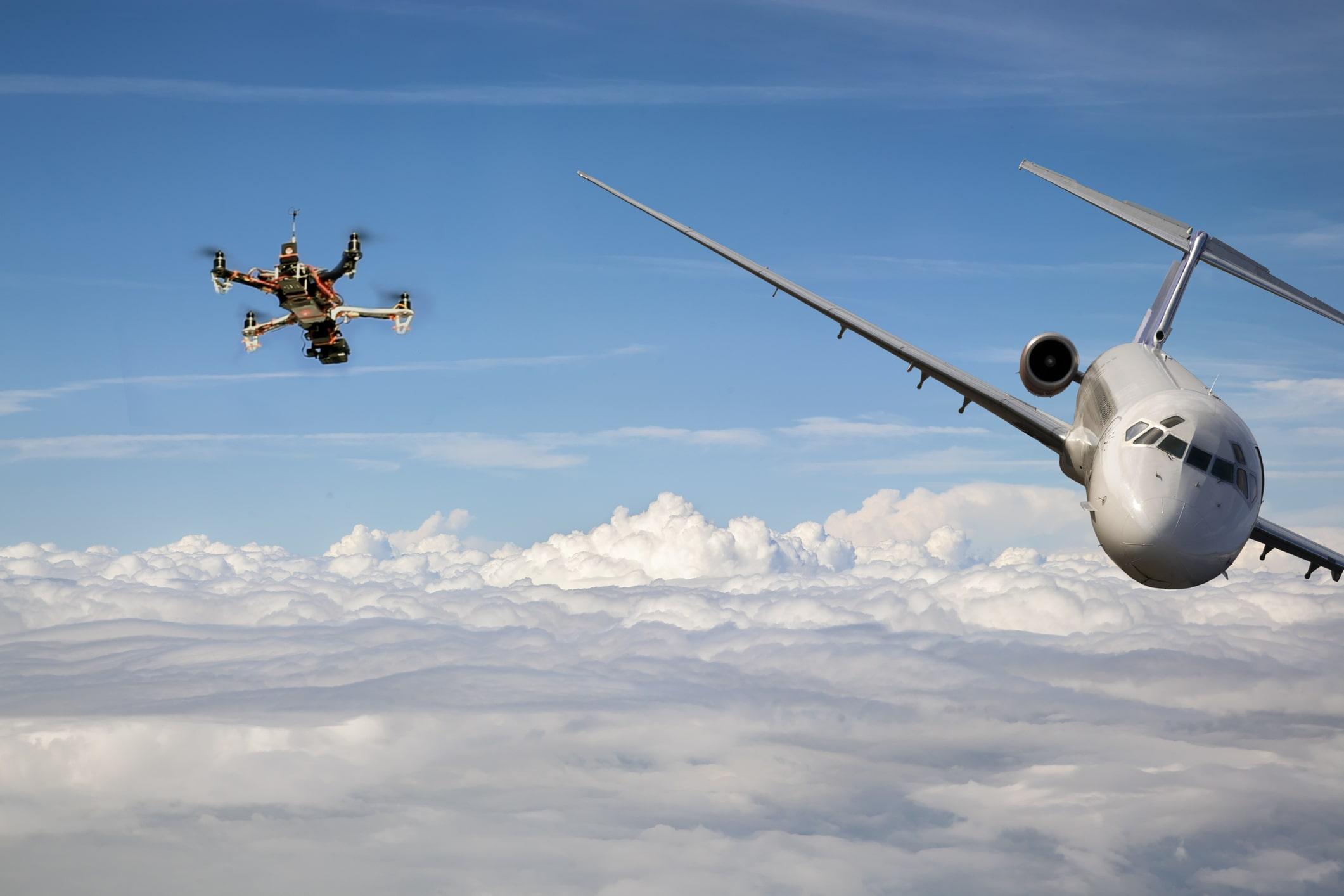 drone strike airplane image