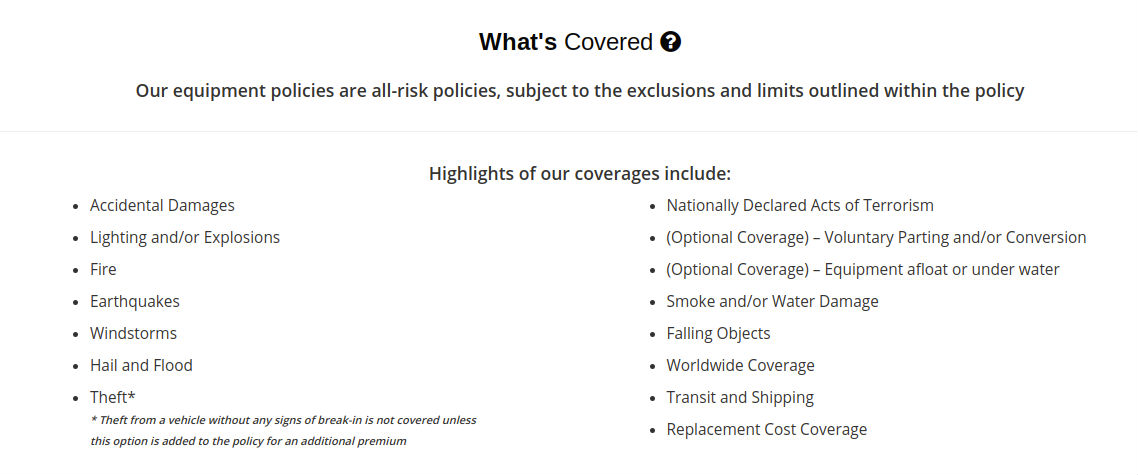 photography insurance coverage